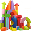 50 Pcs/Set Children's EVA Foam Blocks Enlightenment Educational Toys Software Building Home Safety Chunks Baby Kids Game Gifts