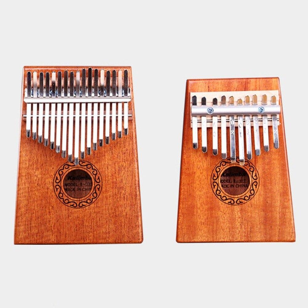 Mahogany Acacia Thumb Finger Piano 17 keys