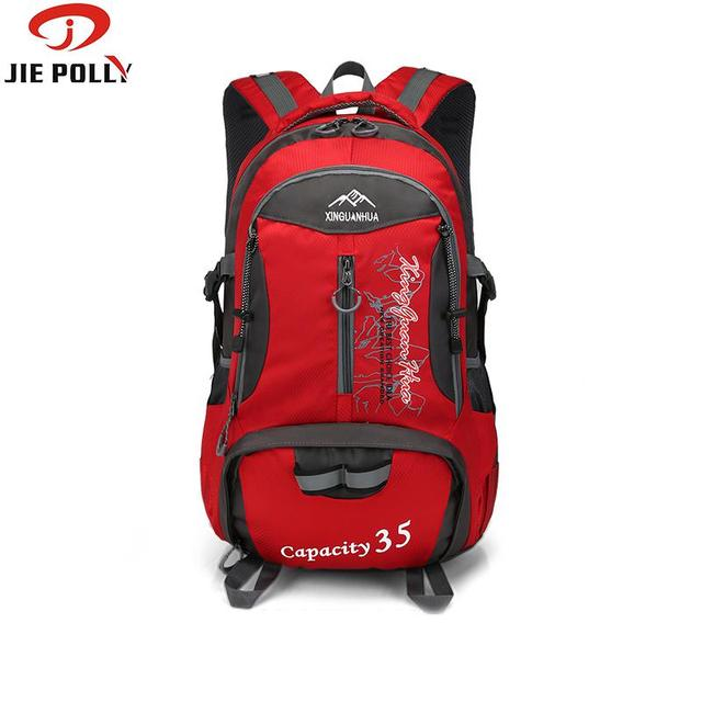 a678b0a41d Mountaineering Climbing Backpacks Waterproof Day Pack 15.6 Inch Laptop Bags  35L Cycling Pack Camping Hiking Outdoor Sport Gear