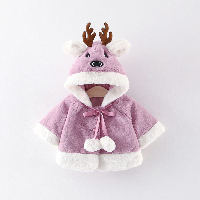 2018 Winter Toddler Baby Jacket Cotton Top Christmas Costume Set Girl Boy Windbreaker Children Cotton 0-4 Years Free Shipping