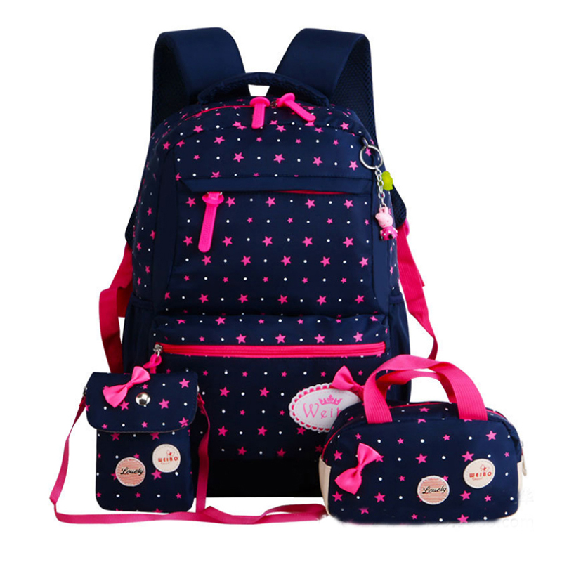 ZIRANYU Star Printing Children Backpacks For Teenagers Girls Lightweight Waterproof School Bags Child Orthopedics Schoolbags