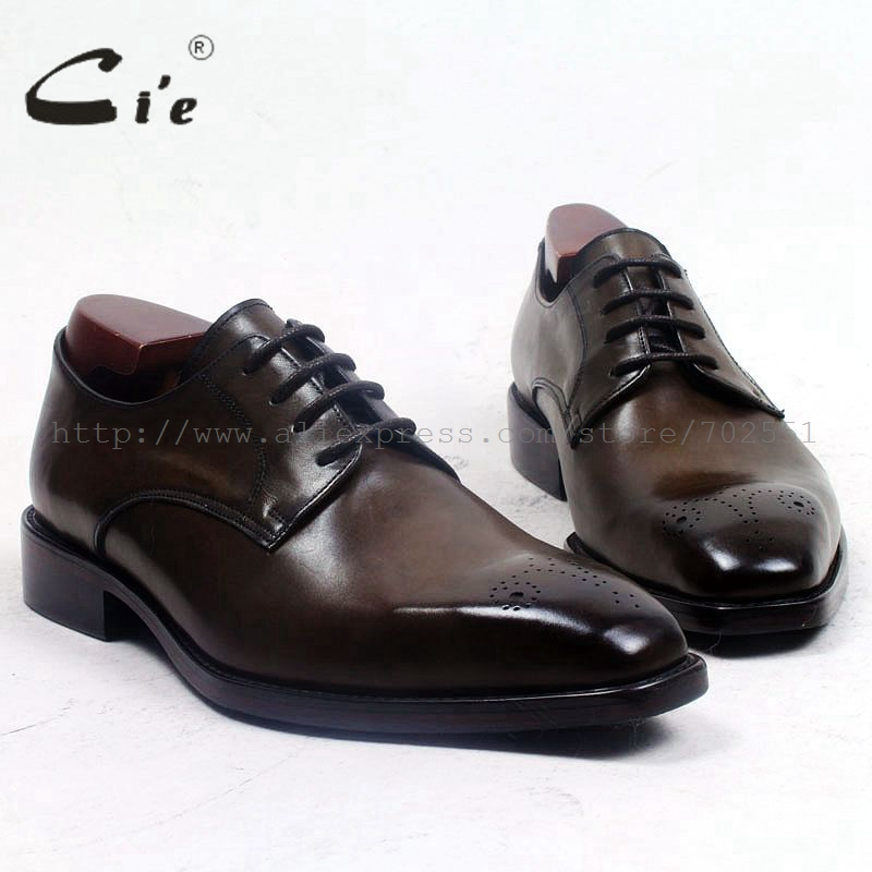 cie Free Shipping custom leather men shoe bespoke handmade 100%genuine calf leather outsole breathable derby men's office D154 custom free 100