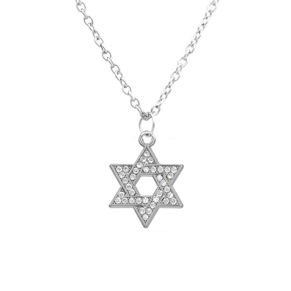 My shape jewish jewelry star of david judaica pendant for Star of david necklace mens jewelry