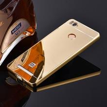 For Xiaomi Redmi 3 Pro / 3s Mirror Back Cover Case & Aluminum Metal Frame Set Hot Phone Bag Cases Coque For Redmi3 Pro xiomi 3 s
