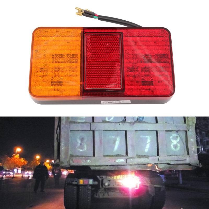 Задний фонарь задние фонари 1 пара 40 светодиодные лампы для автомобилей стоп Индикатор обратного света