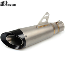 Universal 36 - 51mm Motorcycle Exhaust Muffler Pipe Modified Motorbike Muffler Scooter Exhaust Pipe Escape For Honda Hornet 600 universal motorcycle exhaust muffler pipe modified motorbike muffler scooter exhaust pipe escape for ktm 125 duke abs 990 super