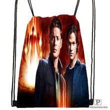 Custom supernatural 02 Drawstring Backpack Bag Cute Daypack Kids Satchel Black Back 31x40cm 180611 01 30