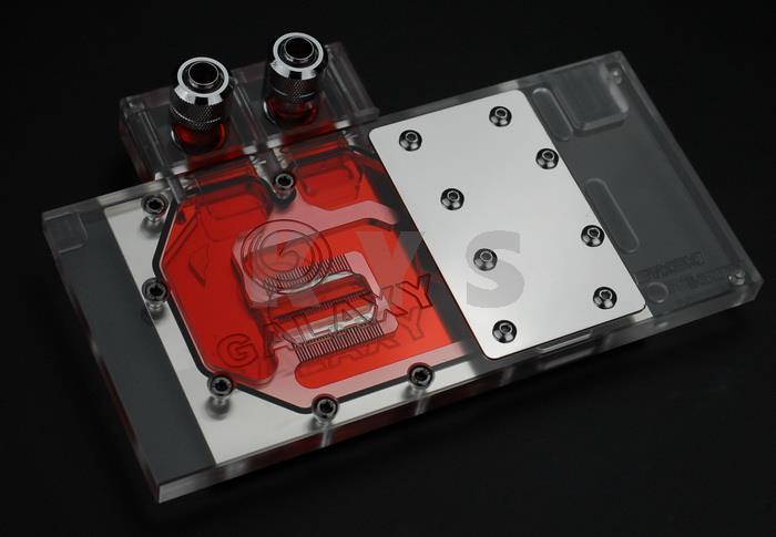 Bykski N-GY96BK-X VGA Water Cooling Block Transparent Top for Gainward GALAXY цена