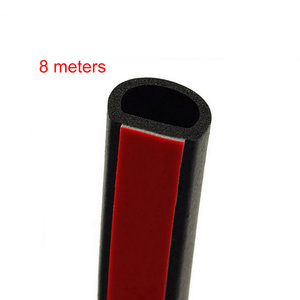 Image 2 - גדול D סוג 8M רצועת חותם דלת הוד Trunk רכב מנוע חותמות רצועת גומי לרעש רצועת חותם