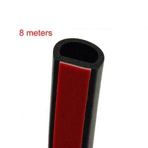 Image 2 - Large D type 8M Seal Strip Door Hood Trunk Automotive Motor  Seals Strip  Rubber Soundproof Seal Strip