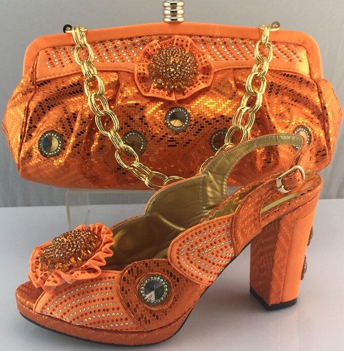 orange Chaussures Qualité Sac Parti Africain Femmes Ladiesitalian Assortis Avec Ensemble De Pour Gris Décoré Arrivée Strass jaune Haute Et Les Sacs 5HTW7Pn