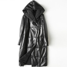 YOLANFAIRY Geniune Leather Jacket For Female Sheepskin Leather Down Coat Winter Chaquetas Invierno Mujer Jaqueta de couro MF187