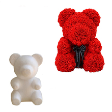 Wedding Decoration Rose Bear Foam DIY Artificial Flower Craft Balls Valentines Day Gift Supplies