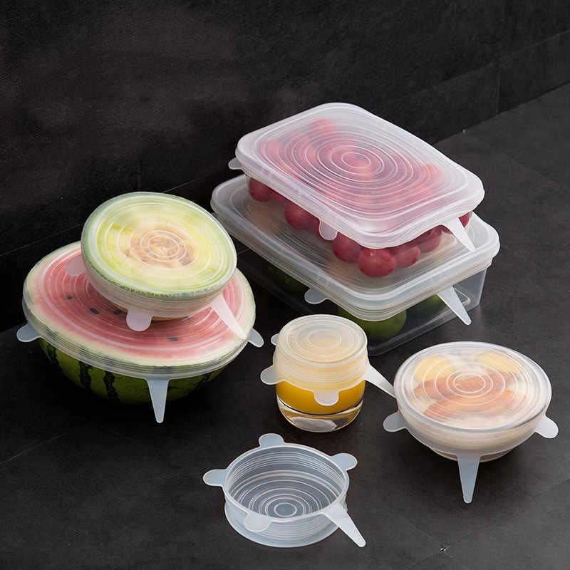 Tapas de Silicona El/ásticas,12 Tapas Silicona Ajustables Cocina,Tapas de Silicona Reutilizables Ecol/ógicas para Adaptarse a Varios Tama/ños y Formas de Contenedores