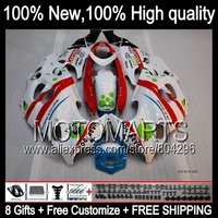 Bodys  For SUZUKI KATANA Dark dog GSXF600 98 99 00 01 02 #JK79 New Red white 750F GSXF 600 750 1998 1999 2000 2001 2002 Fairing