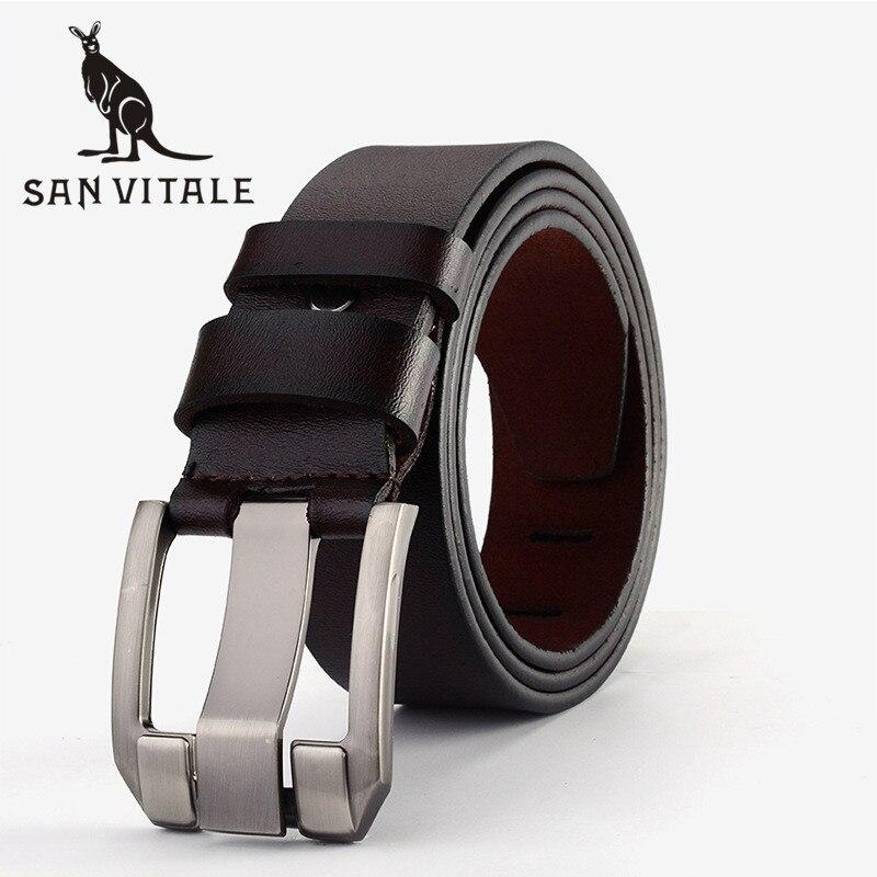 Ceinture pour hommes ceintures en cuir véritable pas cher sangles grande taille boucle élastique 2018 nouveau haute qualité réversible Designer décontracté taille