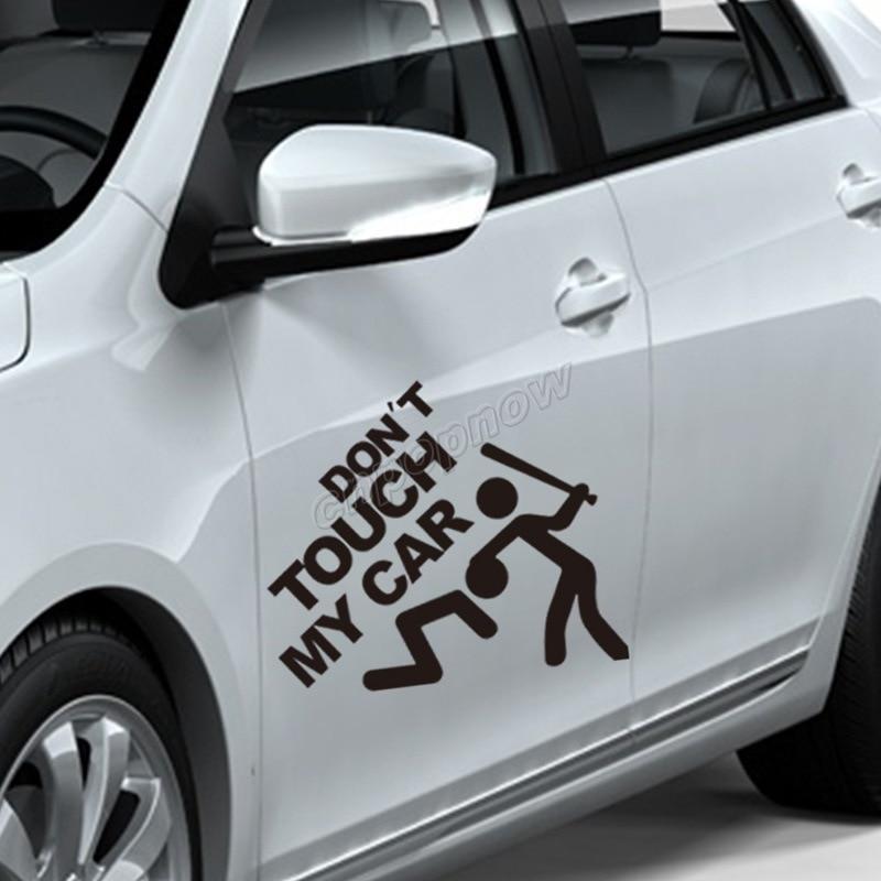 19x22cm Dont Touch My Car Logo Emblem Symbol Vehicle Rear Side