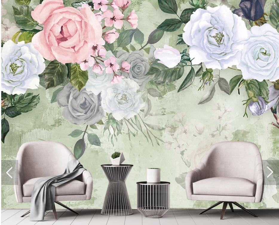 3d Bunga Mawar Wallpaper Dinding Mural Wallpaper Foto Untuk Ruang Tamu Kamar Tidur Latar Belakang Dinding Kertas Roll Bunga Mural Wallpaper Aliexpress