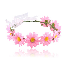 bride holiday deserve to act the role of Bohemia Daisy children hair simulation sun headdress Floral garland