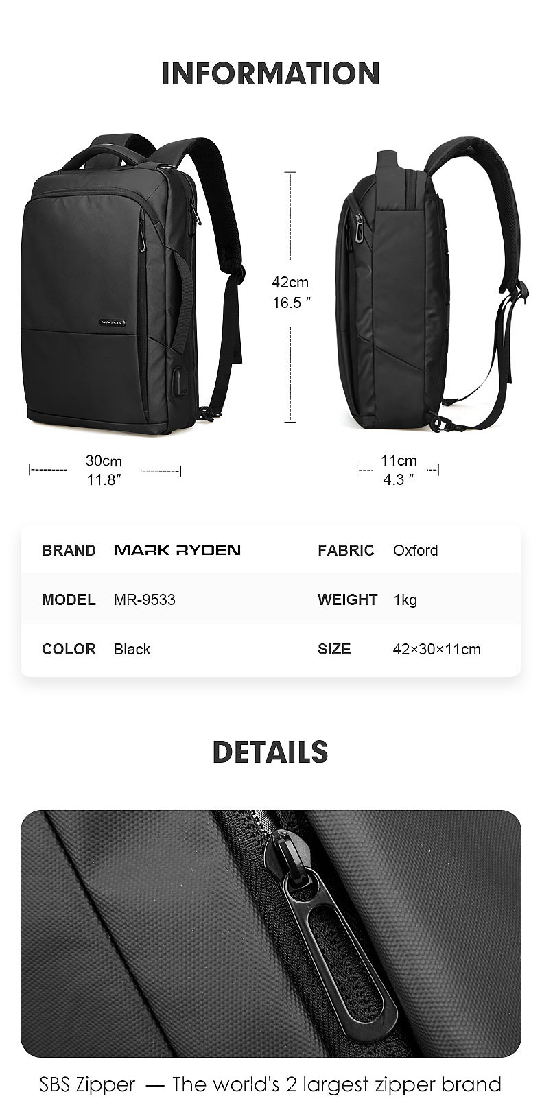 HTB12urxelCw3KVjSZR0q6zcUpXaA - Mark Ryden Travel Backpack Large Capacity Teenager Male