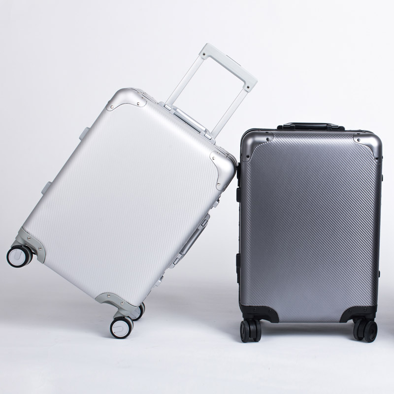 Pure metal Full Aluminum Luggage Suitcase 20242628' Carry On Luggage Hardside Rolling Luggage Travel Trolley Luggage Suitcase vintage suitcase 20 26 pu leather travel suitcase scratch resistant rolling luggage bags suitcase with tsa lock