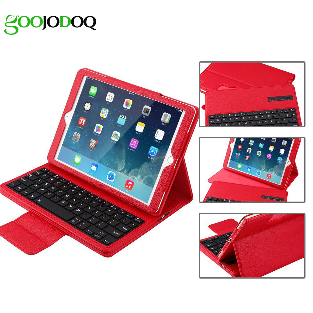 GOOJODOQ Keyboard Case for iPad 2 3 4 PU Leather Smart Cover Folio Portfoli+Detachable Tablet Bluetooth Keyboard for iPad 4 Case pannovo waterproof pu leather extra thick anti shock eva case for gopro hero 4 3 3 2 sj4000