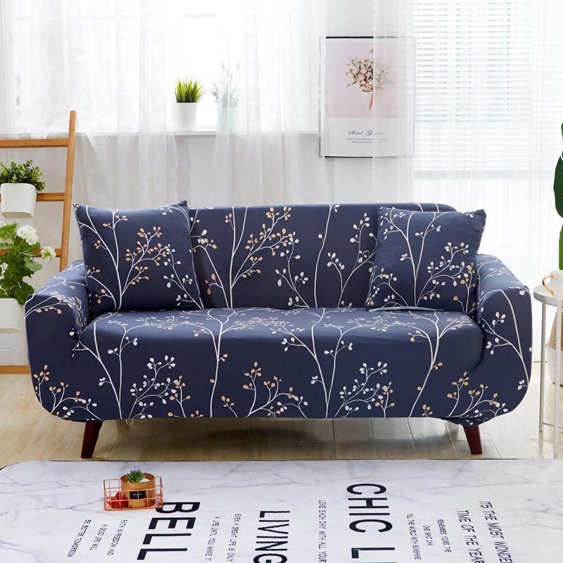 1PC Floral Elastic Sofa Towel Furniture Protector Stretch Tightly Wrap All inclusive Anti Slip Corner Sofa Cover 1/2/3/4 Seat