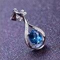 Натуральный голубой топаз камень подвеска S925 серебро Природных драгоценных камней Ожерелье модный личность Музыка Пипа партии женщин ювелирные изделия