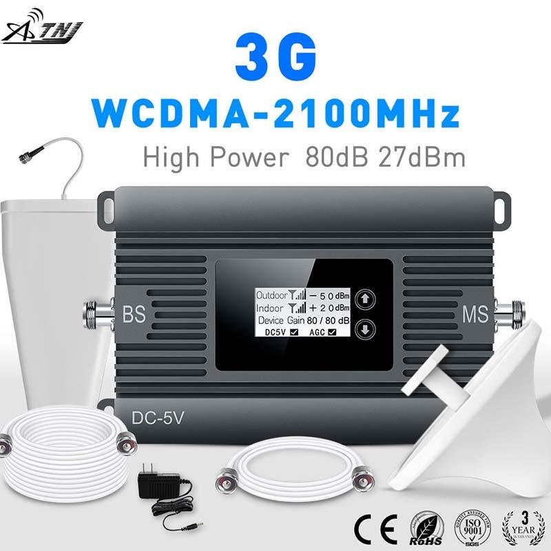 Posilovač signálu 3G Vysoký výkon 80dBi 2100 MHz inteligentní mobilní mobilní zesilovač signálu opakovač 3G zesilovač buněčného signálu WCDMA 3g opakovač