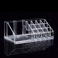 Lipstick Nail Polish Acrylic Transparent Cosmetic Storage Box Makeup Organizer Storage Cosmetic Display Stand Holder Sundry