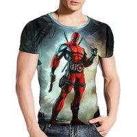 2017 Newest American Comic Badass Deadpool T Shirt Men Women Cartoon Characters 3d Print T Shirt Brand Fitness Camisetas Tees B1
