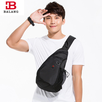BALANG Modern High Quality Casual Cross Body Bags Oxford Waterproof Hiking Multipurpose Sling Bag Durable Chest