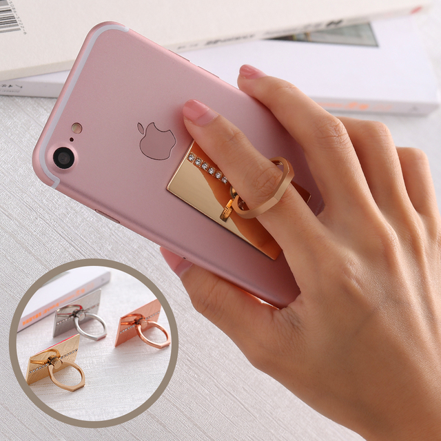 Fashion Phone Stand Holder Universal 360 Degree Rotating Ring Bracket For iPhone 7 Plus 6 6s Plus 5s SE For Samsung S6 S7 Edge
