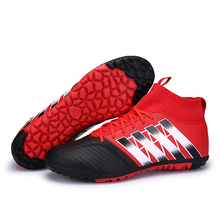 speedfly Tamaño 33-44 Fall2017 nuevo TF zapatos de fútbol de tobillo de los hombres botas botas de fútbol para niños zapatos de fondo rojo zapatillas de deporte de las mujeres