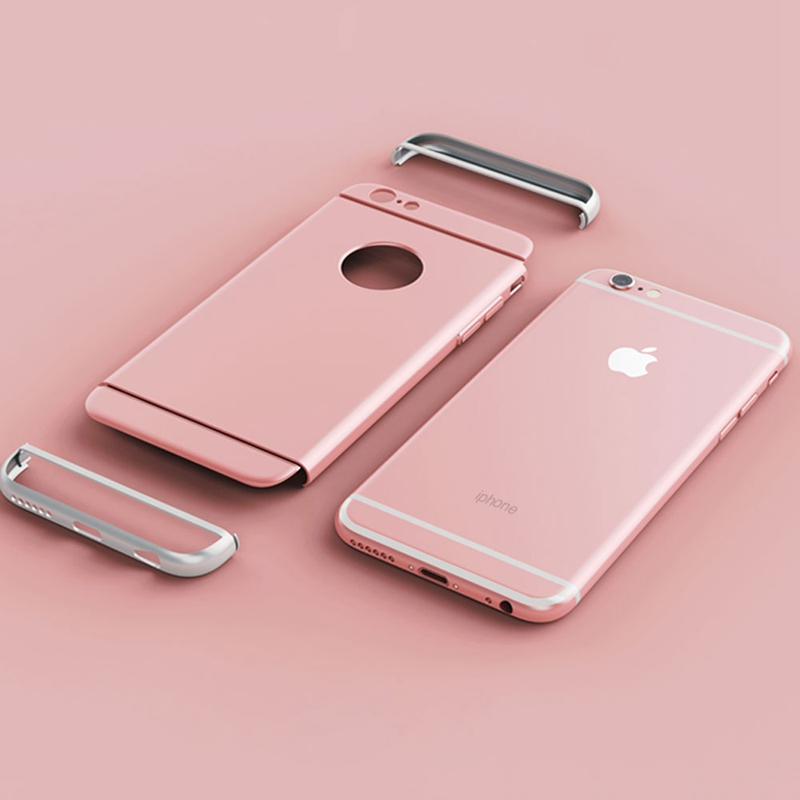 Fashion Anti Knock 3 In 1 Hard Pc Case For Iphone 5 5s Luxury Rose