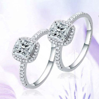 Classic Women S Engagement Lover S Ring Hot On Sale Copper AAA CZ Zircon Diamond White