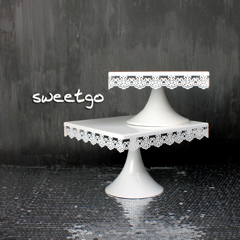 Online Get Cheap Square Cake Stands Wedding Cakes Aliexpress Com