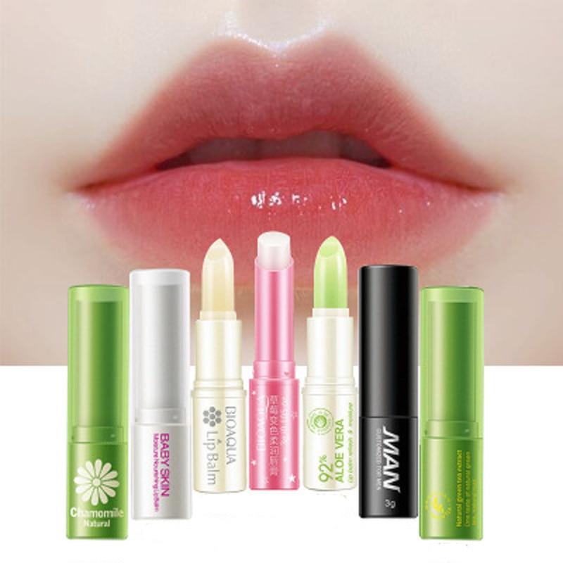 BIOAQUA Lip Skin Care Natural Plant Essence Repair Lip Balm Colorless Long Lasting Lips Skin Moisturizing Nourish Lips Care