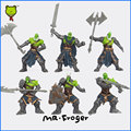 Mr.Froger Orcs Half-ors Half-orc Orcus Ork Orcish orca Action figure chibi model toy the legion of thunder diy collect them all