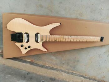 ¡Envío gratis! ¡Calidad superior! FDHL-006 cubierta de chapa de color original diapasón de arce con ventilador de guitarra eléctrica sin cabeza