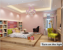 beibehang Non-woven wallpaper moon star children room fluorescent luminous walls paper  papel de parede papier peint non woven luminous wallpaper roll stars and the moon boys and girls children s room bedroom ceiling fluorescent wallpaper decor