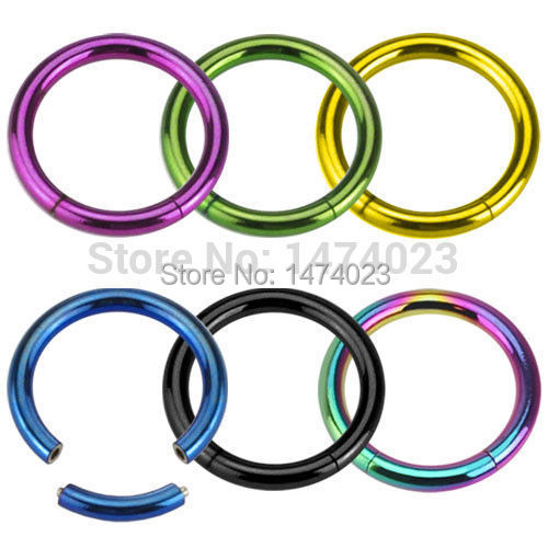 *NEW* 316L Surgical Steel 1.2*10mm CZ Gemmed Septum hoop Choose Design / Colour