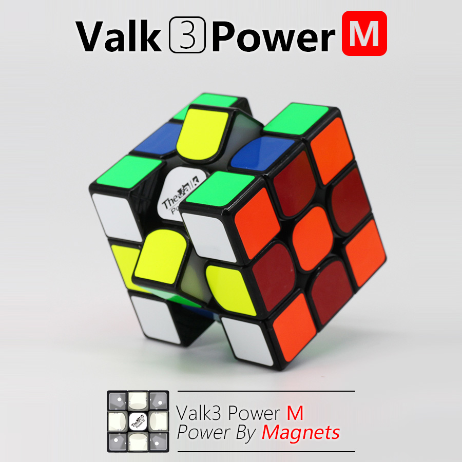 Valk 3 Valk3 Power M Mini Size Cube 3x3 Speed Magnetic Cube Mofangge Qiyi Competition Cubes Toy WCA Puzzle Magic Cubes By Magnet