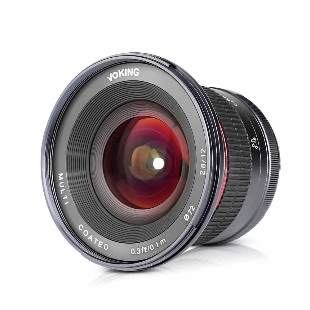 VOKING VK-12mm F2.8 Multi Coated Fixed Manual Focus Lens for Nikon Cameras
