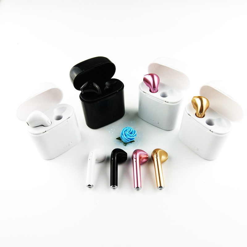 Bluetooth Earphone Headphone Wireless Headset Double Twins Stereo Music Earbuds For Apple ipad iPhone 6 i7 Xiaomi Huawei -md2