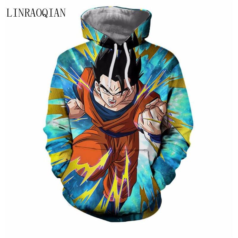 Dragon Ball Z Hoodies 3d Hoodies Pullovers Sweatshirts Anime Funny Cartoon Sweatshirt 2018 New Design Dragon Ball Hoodie Men