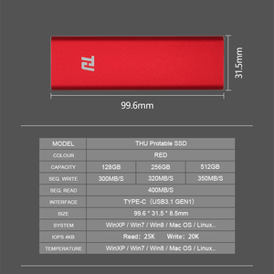 Image 4 - 128G Portable SSD External HDD Solid State Drive 64GB 128GB 256GB 512GB 1TB Portable SSD USB3.0 400MB/s  for PC Laptop Notebook
