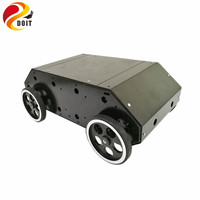 DOIT VC 100 Enclosed 4wd RC Car with Stainless Steel Frame, 95mm Metal Wheel, 12V High Power Motor for Arduino DIY RC Toy