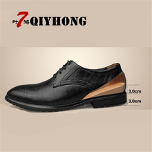 QIYHONG Hot Men Shoes New Men Shoes Fashion Leather Shoes Casual Men Shoes Men Flats Shoes Increase The Business Shoes