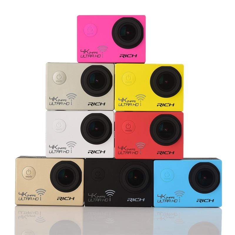 Action Camera ULTRA HD NT96660 4K 24fps 16MP 3840*2160 Wifi Waterproof 170D Lens Camcorder Sport camera цены